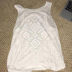 Tops - White See-through shirt